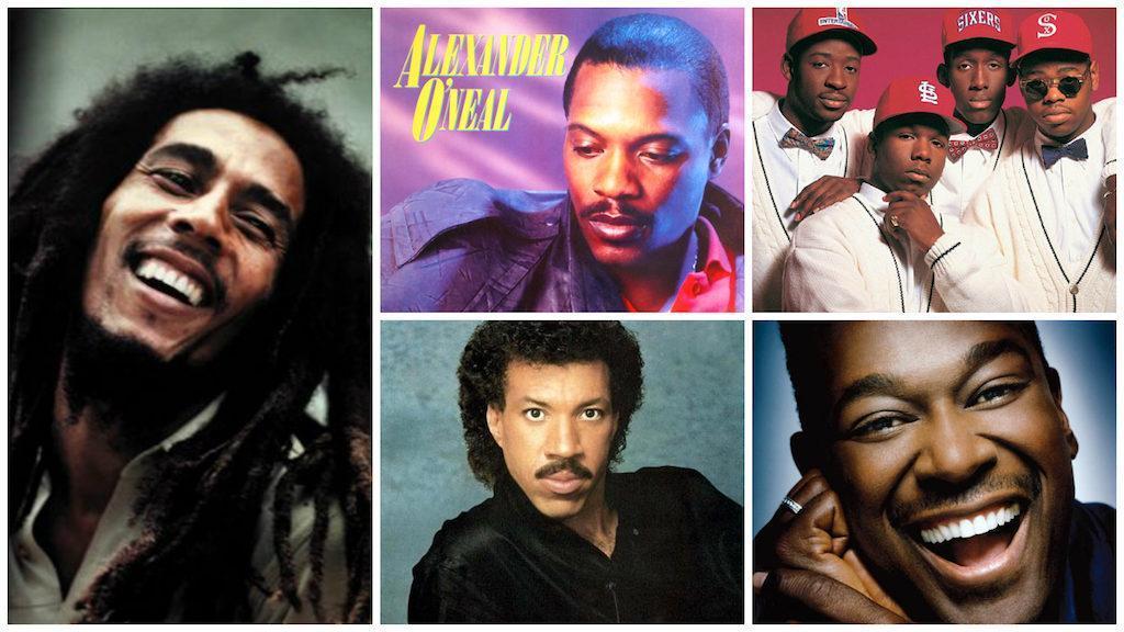Bob Marley, Alexander O'Neal, Boyz 2 Men, Lionel Richie & Luther Vandross