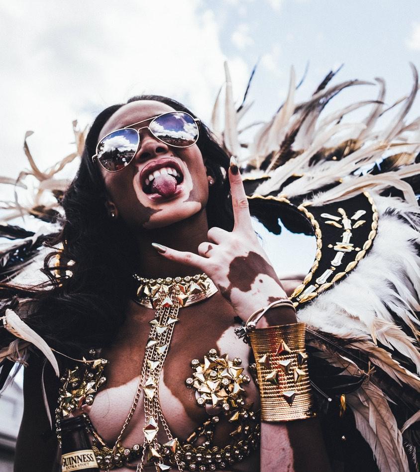 Winnie Harlow at Caribana 2015 copy