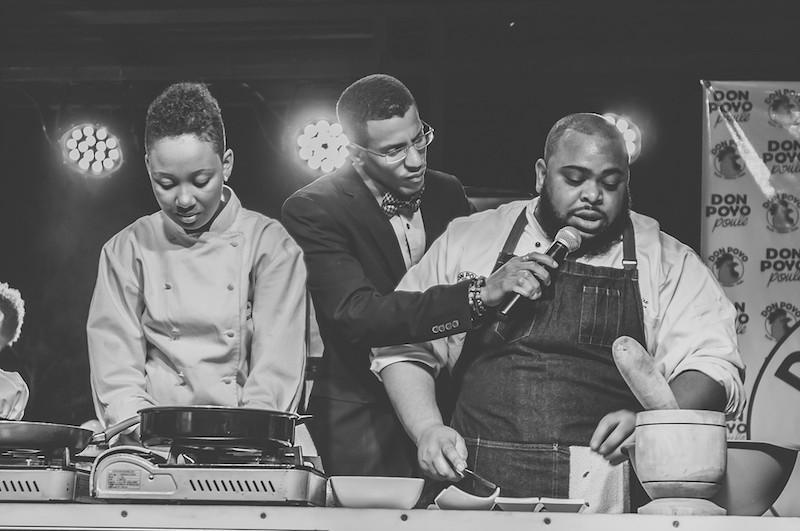 Chef Lamaire - Le Chef TV Grand Premiere, Petion-Ville, Haiti March 2015