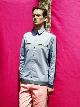 The label LAURENCEAIRLINE was founded in 2010 by creative director Laurence Chauvin-Buthaud.